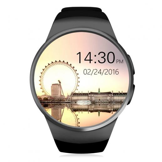KingWear KW18 Smartwatch Bluetooth 4.0 Montre Connectée Intelligente - Noir