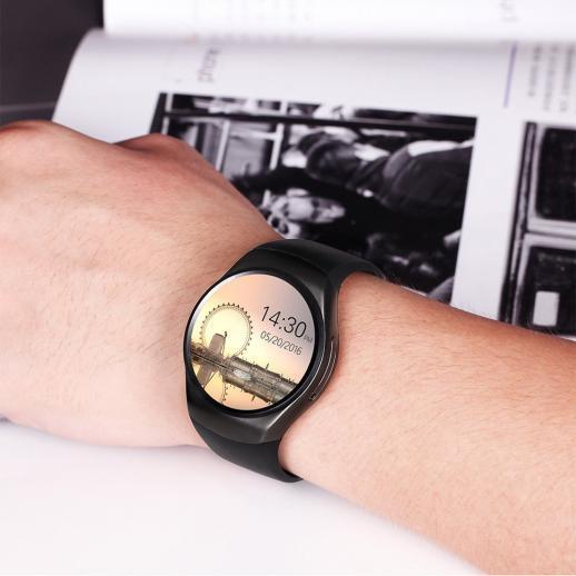 KingWear KW18 Smartwatch Orologio Intelligente Bluetooth 4.0 Frequenza Cardiaca - nero