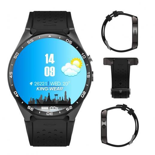 Kingwear KW88 Bluetooth Smartwatch Watchphone Wifi 3G GPS - nero