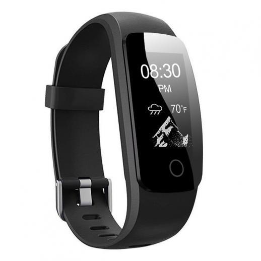 ID107Plus Monitor De Freqüência Cardíaca De Fitness Rastreador Inteligente Pulseira - Preto