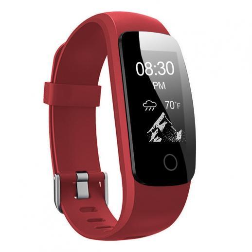 ID107Plus Smart Bracelet Rastreador de Fitness Monitor de Freqüência Cardíaca - Vermelho
