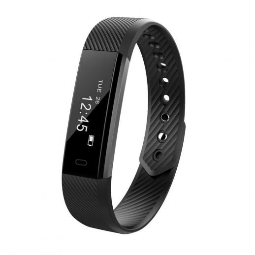 ID115 Smart Bracelet Sports Fitness Rastreador - Preto