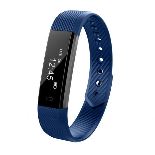 ID115 Pulseira Inteligente Sports Fitness Tracker - Azul