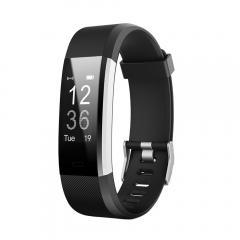 ID115HR Plus Bracelet Intelligente Sport Tracker Moniteur de Fitness - Noir