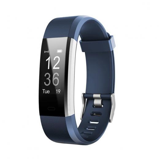 ID115HR PLUS Smart Armband Sportarmband Fitness Tracker Hartslagmeter - Blauw