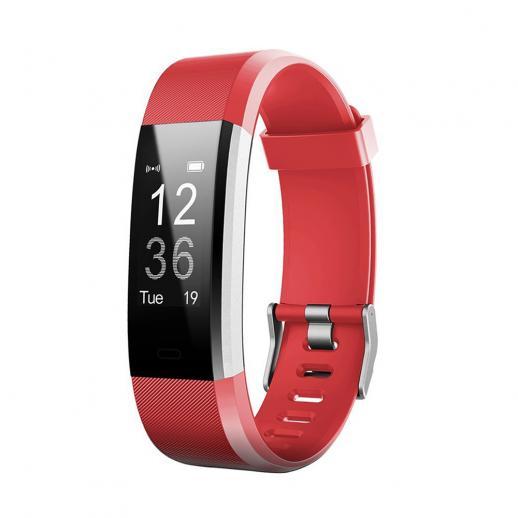 ID115HR PLUS Bracciali Inteligente Sportivo Polsino Fitness Frequenza Cardiaca - Rosso