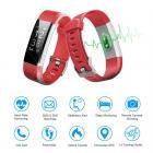 ID115HR PLUS Inteligente Pulseira Sports Wristband Rastreador de Fitness Monitor de Freqüência Cardíaca - Vermelho