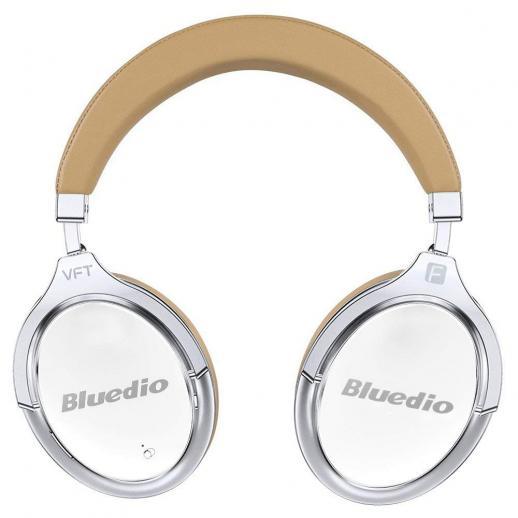 Fone de ouvido Bluetooth Bluedio F2 com cancelamento de ruído ativo - Branco