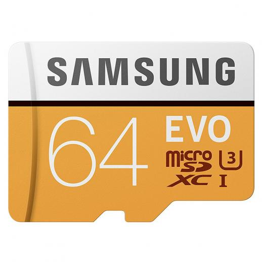 Cartão de memória Samsung 64GB MicroSD EVO 100MB / s U3