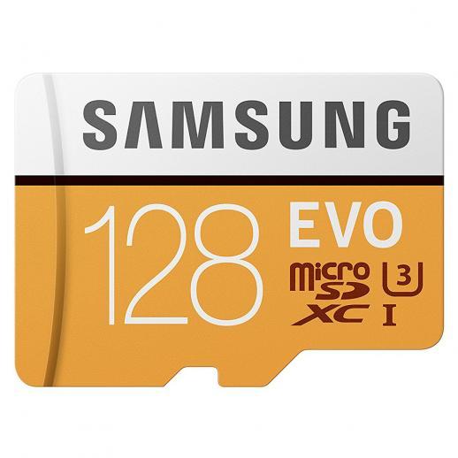 Cartão de memória Samsung 128GB MicroSD EVO 100MB / s U3