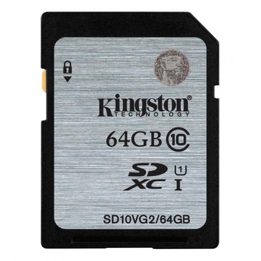 Classe de Cartão de Memória Kingston 64GB SDXC 10 UHS-I 45R / 10W