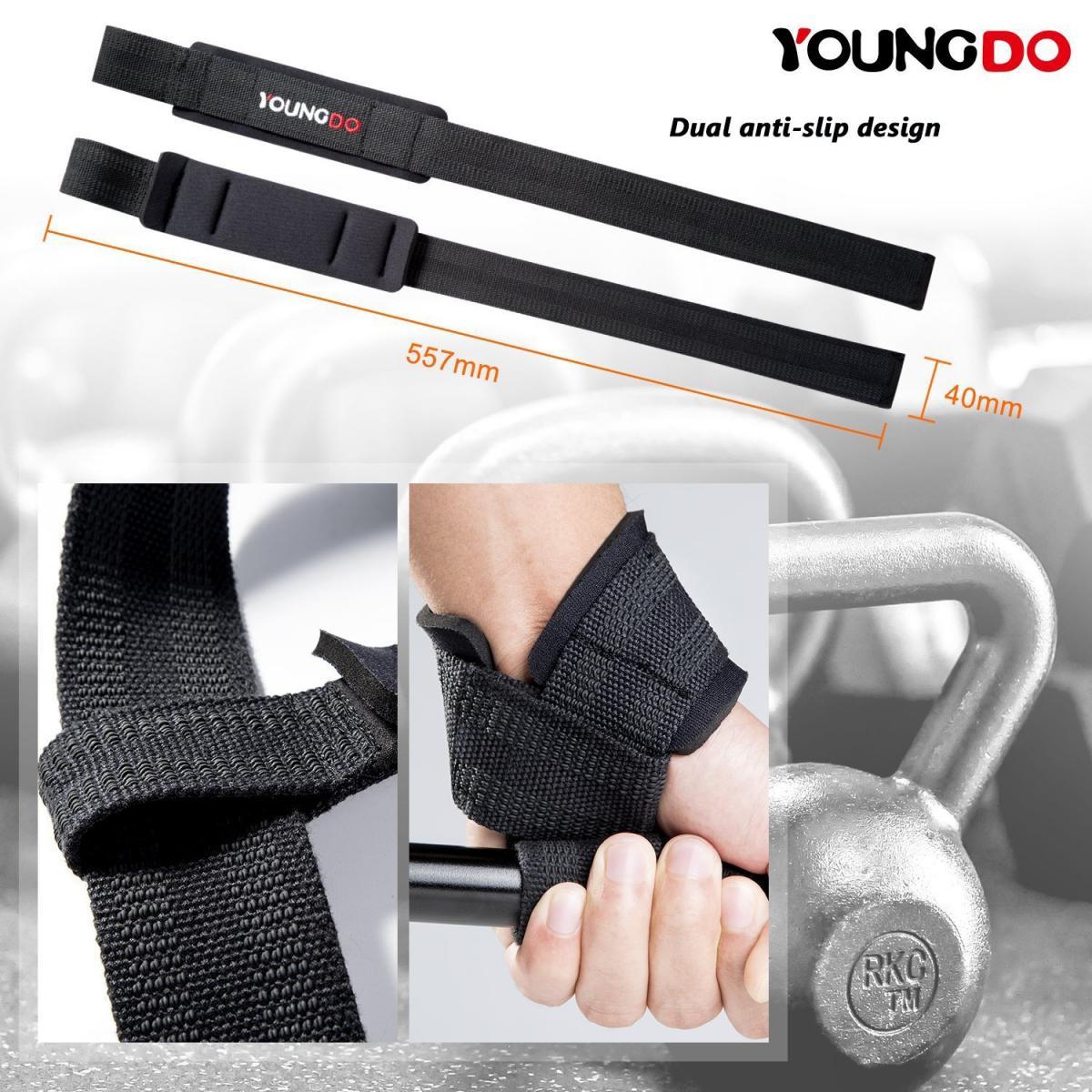 AQF gepolsterte Lederriemen Gewichtheben Training Gym Bar Handgelenkstütze DE