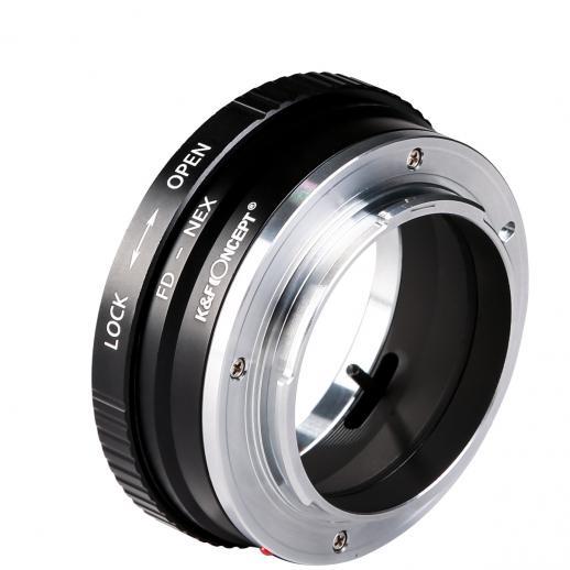 Adapter für Canon FD Objektiv auf Sony E Mount Kamera Kupfer