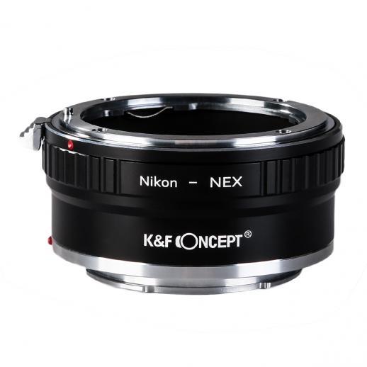 Adapter für Nikon F Objektiv auf Sony E Mount Kamera Kupfer