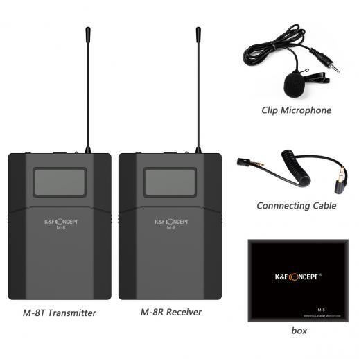 M8 UHF Lavalier Mikrofon für Kamera Video Fotografie Kabellos