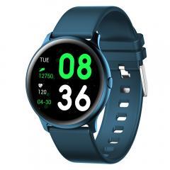 KW19 Pro plein écran tactile montre intelligente moniteur de fréquence cardiaque de pression artérielle Fitness poursuivant -Bleu