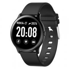 KW19 Pro Plein écran tactile Montre intelligente Moniteur de fréquence cardiaque de la pression artérielle Fitness Poursuivant -Noir