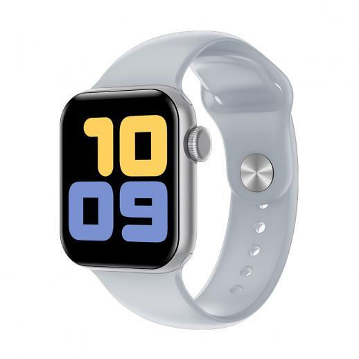 kingwear V52 2020 inteligentny zegarek mężczyźni IP68 wodoodporny pływanie tętno ciśnienie krwi Smartwatch pełny ekran dotykowy dla Androida iOS-Srebrny