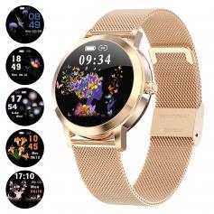 KW10 Women Smart Watch Lady Fitness Bracelet Smartwatch Clock