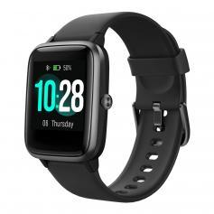 K&F ID205L Smartwatch Bluetooth HD-Bildschirm Tragbarer Tracker Herzfrequenz Sport Wasserdicht 1,3 Zoll -Schwarz