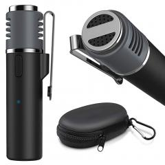 Microphone Lavalier Bluetooth sans fil Gialer SmartMic pour iPhone et Android, Microphone à revers sans fil de 50 pieds Smart Mic
