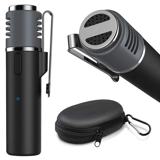 Gialer SmartMic Wireless Bluetooth Lavalier Mikrofon für iPhone und Android, 50ft Wireless Revers Mikrofon Smart Mic