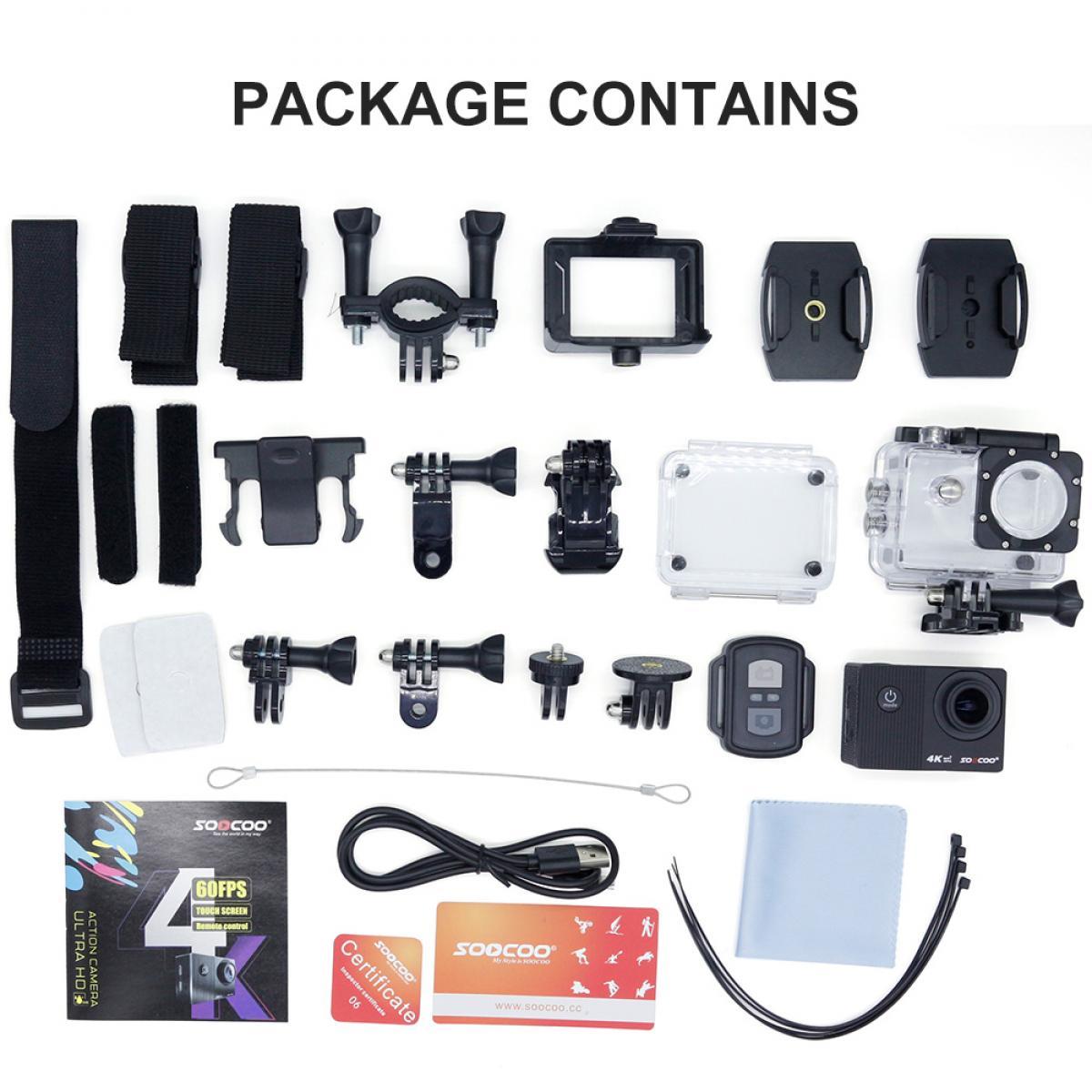 SOOCOO F91R Ultra HD 4K 60fps Action-Touchscreen Unterwasser Wasserdichte WIFI-Video-Sportkamera