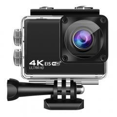 Nouvelle caméra de sport étanche 4K60FPS WIFI tactile télécommande caméra anti-secousse sports de plein air DV noir