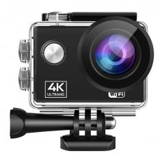 AT-Q40C 4K60FPS Sport Actionkamera Ultra HD-videokamera 13MP WiFi vattentät kamera (svart)