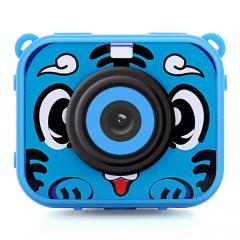 AT-G20G enfants caméra étanche 1080P HD caméra d'action pour anniversaire vacances cadeau caméra jouet 2.0 `` écran LCD (bleu)
