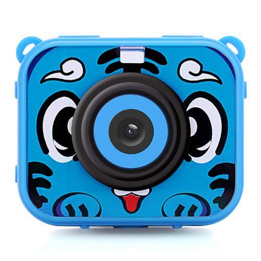 AT-G20G Kids Camera impermeável 1080P HD Action Camera para aniversário feriado presente câmera Toy 2.0 '' tela LCD (azul)