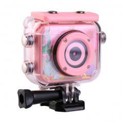 AT-G20B 1080P HD Kids Action Camera Wodoodporna cyfrowa kamera sportowa dla dzieci Karta SD 32 GB (różowa)