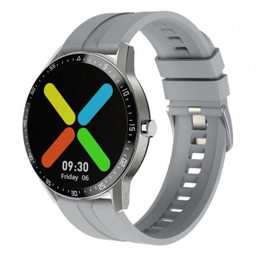 Monitor de freqüência cardíaca com tela de toque total de 1,28 polegadas G1 smart watch monitor de freqüência cardíaca IP68 à prova d'água prata