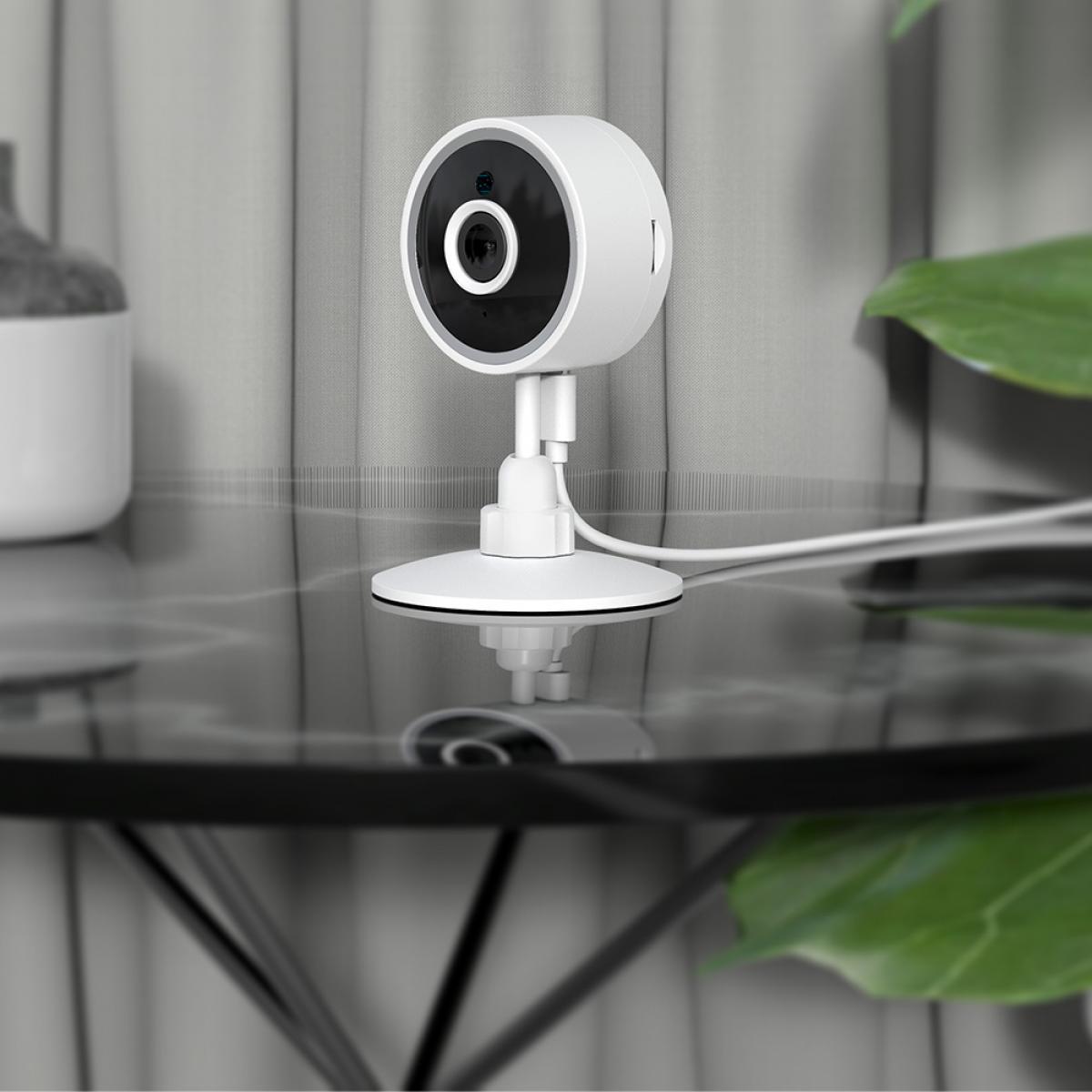 X2 Home Security Camera, 1080P 80 graden WiFi-binnencamera, bewegingsdetectie, cloud- en SD-kaartopslag Werkt met Alexa