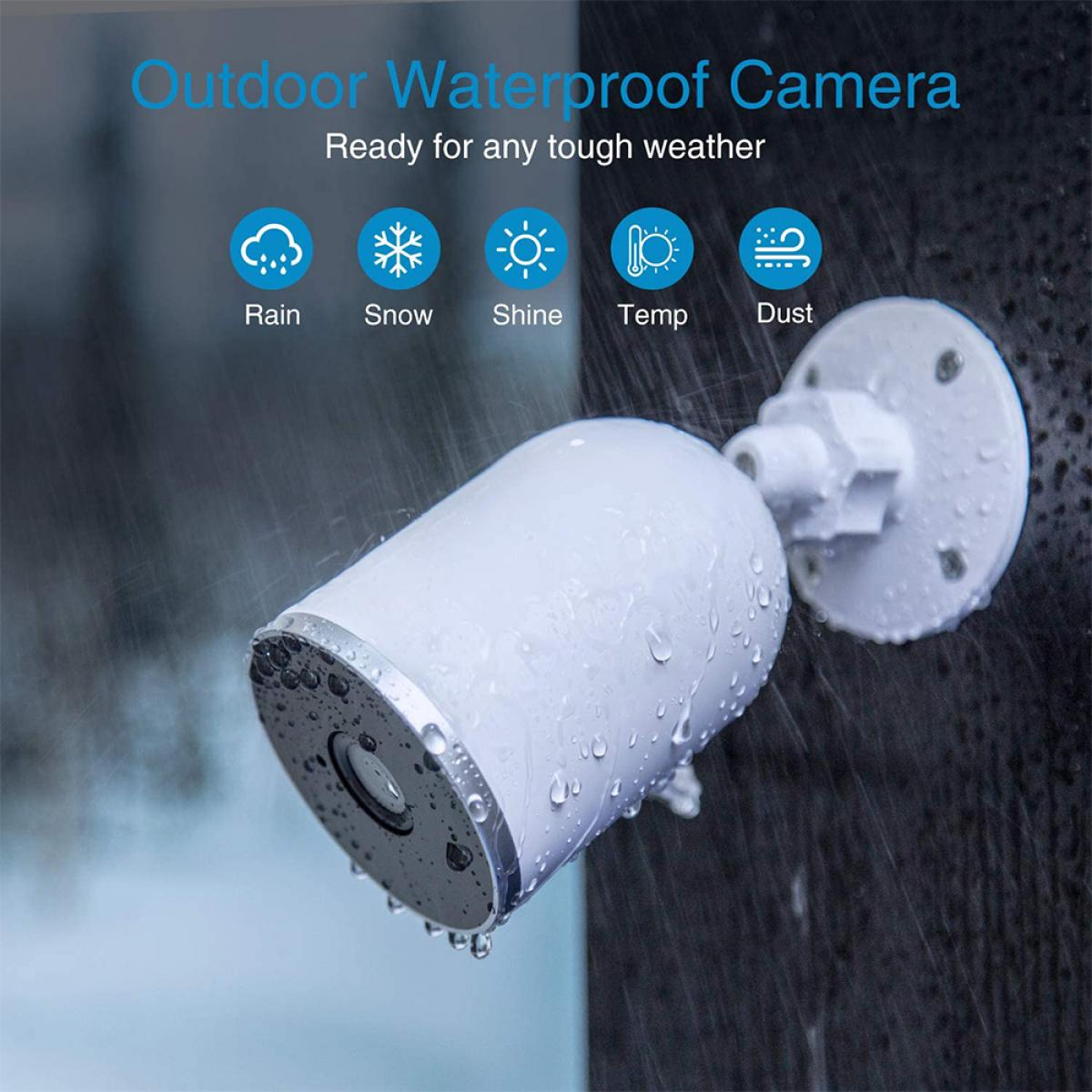 V6 Security Camera Outdoor , WiFi IP Cameraswith 2-Way Audio,Night Vision, APP Access
