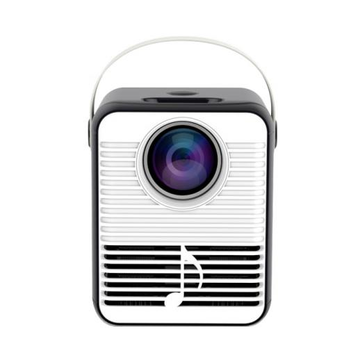 """Projetor de vídeo C3, monitor de 1080P e 160 """"com suporte, mini projetor portátil com LED, projetor de filme de home theater 150ANSI 4000 Lumen compatível com Fire TV, laptops, PC, PS4, HDMI, USB - padrão do Reino Unido"""