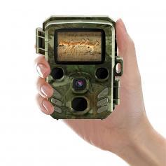 """1080P 16MP HD Mini Trail Camera Bluetooth IR Night Vision IP66 impermeabile con 2 """"LCD 0.6s Trigger Time per il monitoraggio della fauna selvatica"""