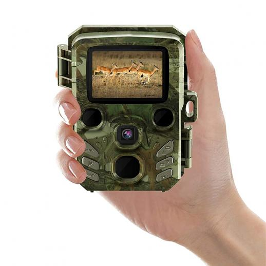 """H501 Mini caméra de piste 1080P HD 5MP IR Vision nocturne, IP66 étanche et longue veille avec écran LCD 2 """", temps de déclenchement de 0,6 s pour la surveillance de la faune, sécurité à domicile"""