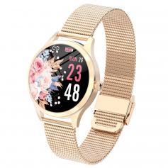 LW07 Vollkreis Full Touch weibliche Smartwatch Armband Gold
