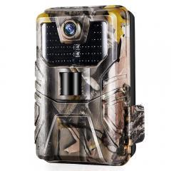 Caméra de traînée WiFi 24MP 1296P Mise à niveau des caméras de jeu Bluetooth avec Vision nocturne activée par le mouvement et ange de détection à 120 ° pour la surveillance de la faune en plein air