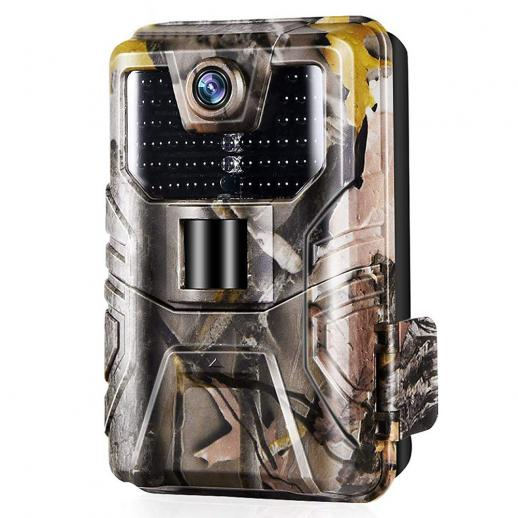 Upgraded Wildlife Camera WiFi Bluetooth 4K/30fps Hunting Trail Camera with 120° Monitoring Angle with Motion Activated Night Infrared Vision Waterproof Outdoor Scouting Game Camera