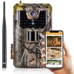 Caméras de piste cellulaire LTE 4G Caméra sans fil vidéo en direct 30MP 4k pour la surveillance de la faune avec plage de détection de 120 ° Vision nocturne activée par le mouvement étanche