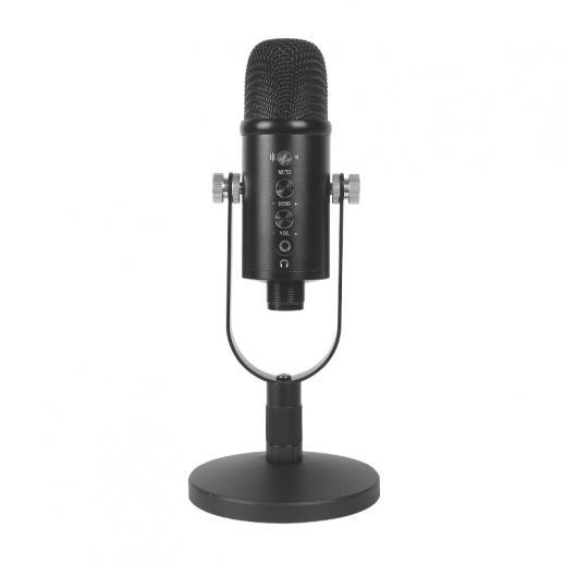 Conjunto de suporte de microfone condensador USB para computador doméstico gravação de jogo de alta amostragem de redução de ruído monitorando microfone com fio
