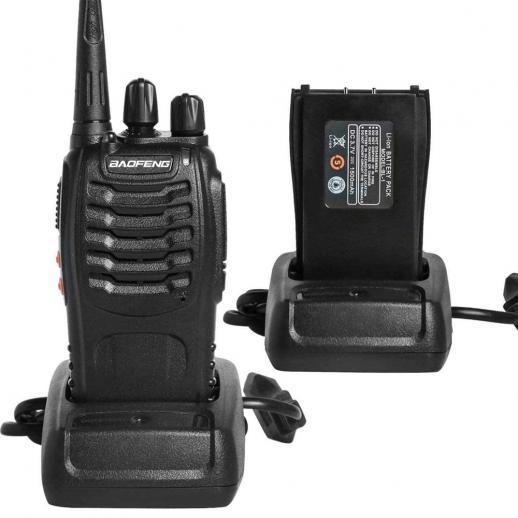 BF-888S dual-purpose walkie-talkie draadloze high power (USB-connector)