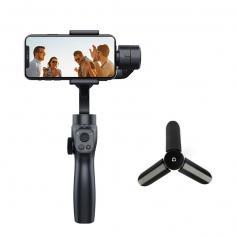 Niezwykle stabilny, przeciwwstrząsowy trójosiowy stabilizator gimbala (zestaw), odpowiedni dla telefonów iPhone i Android oraz kamer sportowych GoPro, z funkcją dynamicznego śledzenia twarzy/obiektów