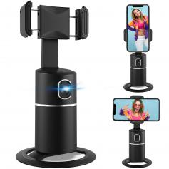 Smart Tracking Holder【NO APP Required】, 360°  Face Tracking phone holder, for Live Streaming/Vlogging/Video Shooting
