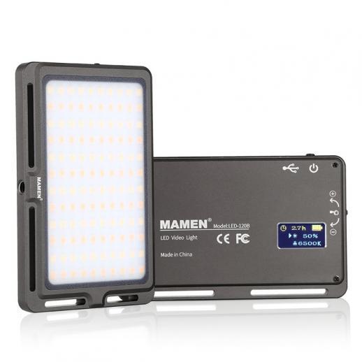Ultra-thin Portable Mini Two-Color LED Fill light, 3000K-6500K Adjustable Brightness