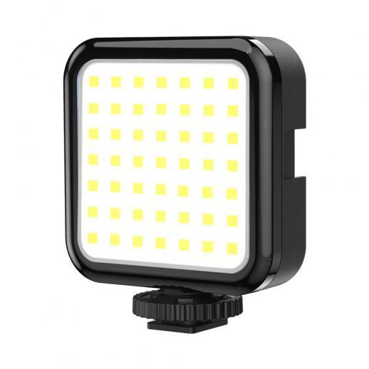 Justerbar LED-videolampa med tre stegs ljusstyrka med sugkopp, 6500 k bärbar ficklampa för fjärrarbete, möte, sändning, video och smink