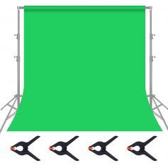 1,8 x 2,8m Faltbares Musselin-Hintergrund für Videofotografie - Grüner