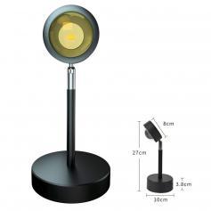 Stehlampenprojektor LED-Projektionsnachtlicht für Echtzeit-Streaming-Media-Fotografie - Sonnenuntergang rot